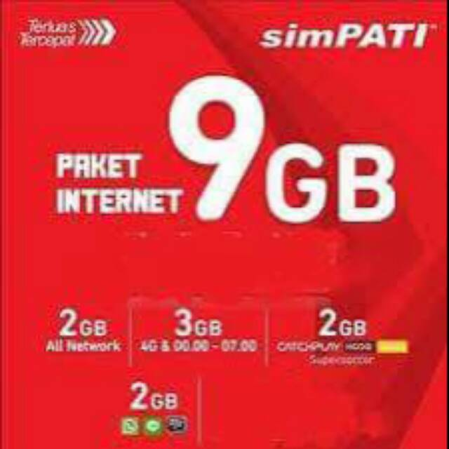 Kartu Kuota Telkomsel 9gb