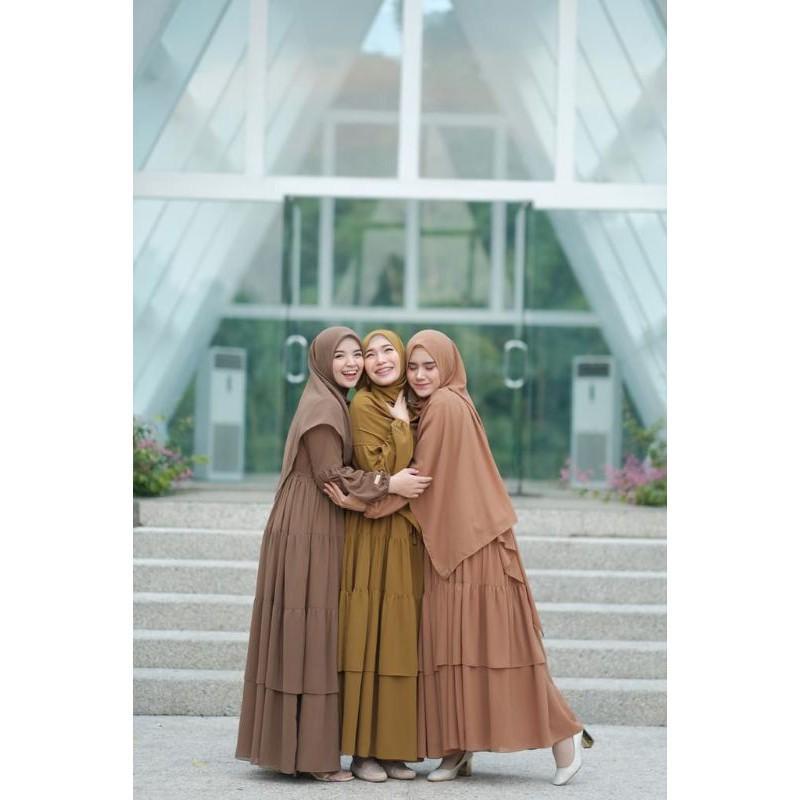[Dress Muslim] Haura dress ori by gerai aliyah Gamis Wanita