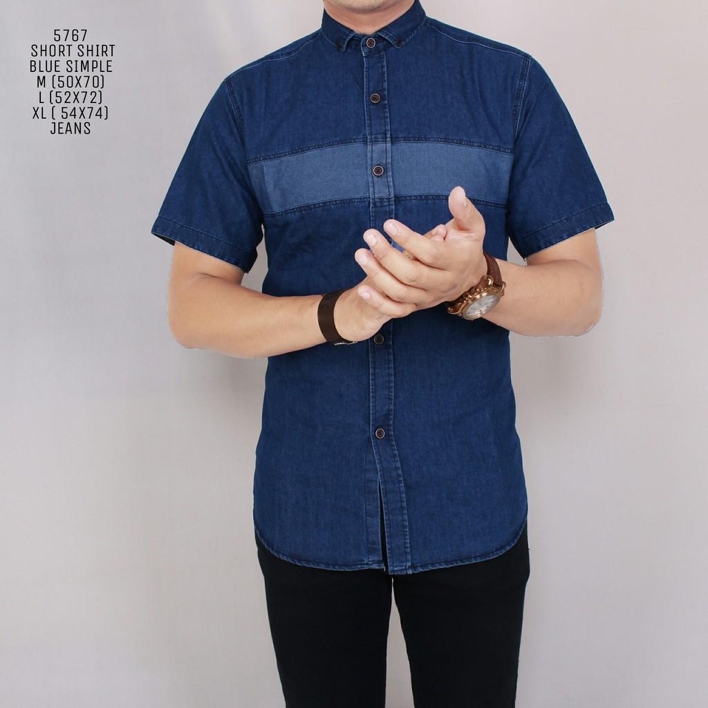 Emba Jeans Marloe Kemeja Pria Lengan Pendek Warna Putih Shopee Fm316 Celana Denim Hs Muda Biru 33 Indonesia