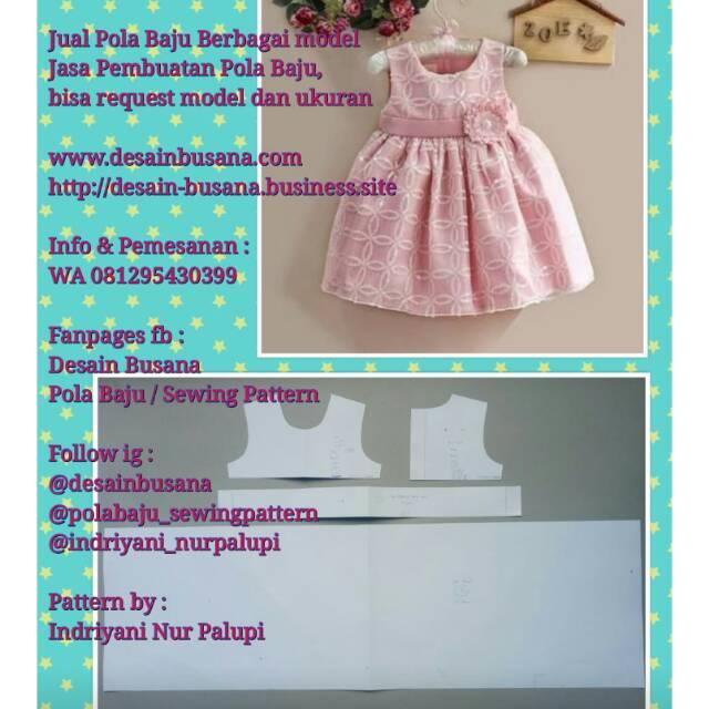 Pola Produksi Dress Anak 020 Pola Baju Sewing Pattern Model Baby Doll Shopee Indonesia
