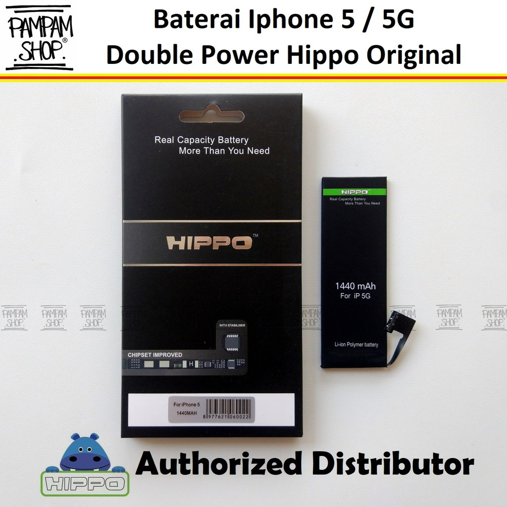 Baterai Hippo Double Power Original Apple Iphone 5 5G Batre Batrai Battery Dual Handphone Hipo Ori | Shopee Indonesia