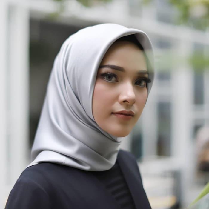 Hijab Jilbab Pashmina Satin Velvet Premium Shopee Indonesia