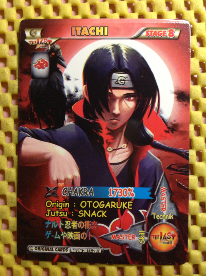 Itachi card collection ultimate ninja strom naruto series kartu murah