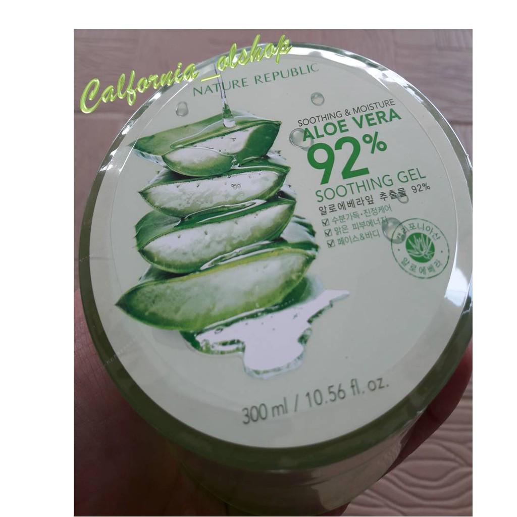 Murah Nr Aloe Nature Republic Soothing Gel 92 Republik Vera 300ml Shoothing Aloevera Berkualitas Like Ori Shopee Indonesia