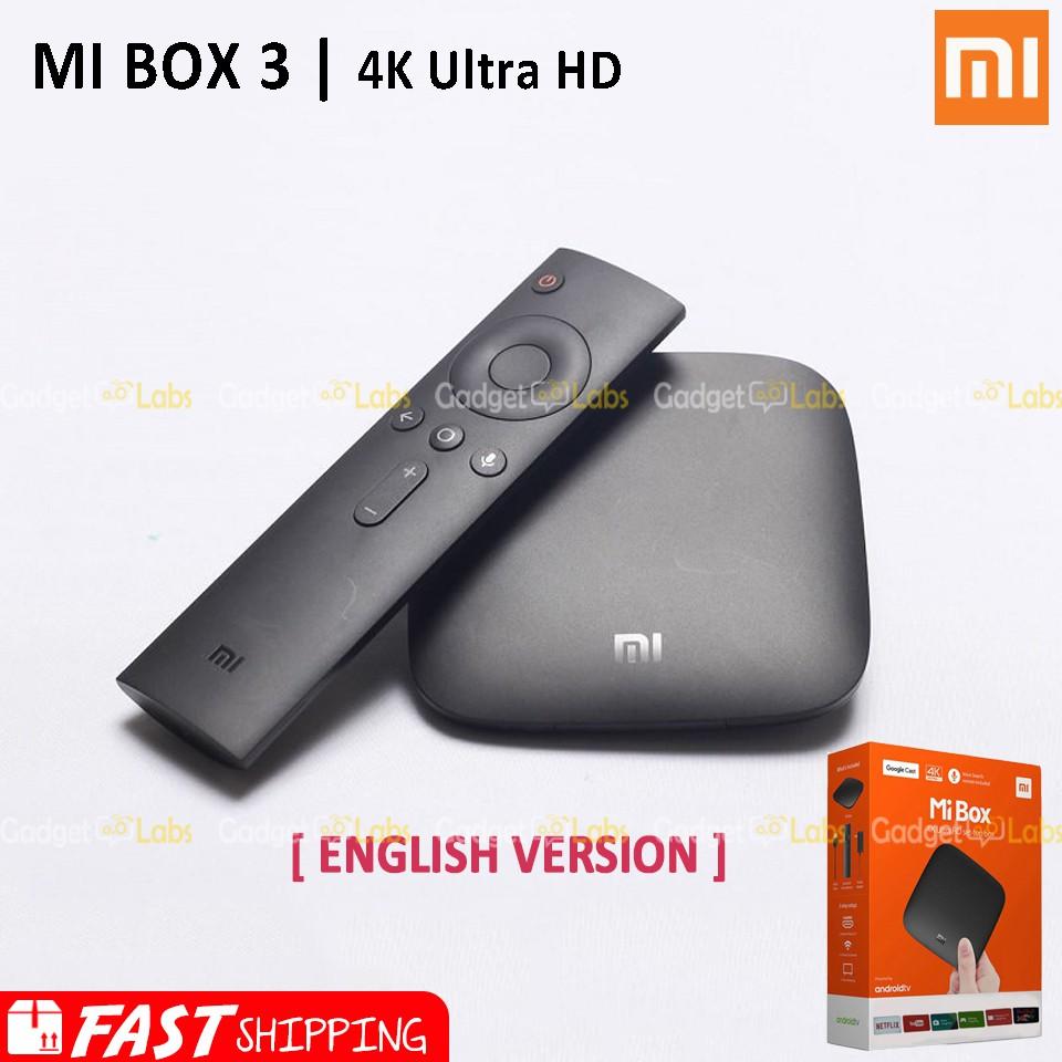 Xiaomi Mi Box 3 Smart 4k Ultra Hd Android Tv International