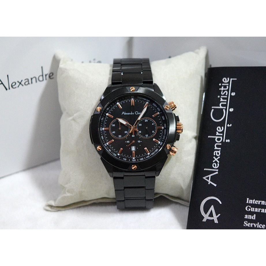 Jam Tangan Alexandre Christie Original Ac 8512 Alexander Stainless Alexandra Watch Steel Bergaransi Sepasang Shopee Indonesia