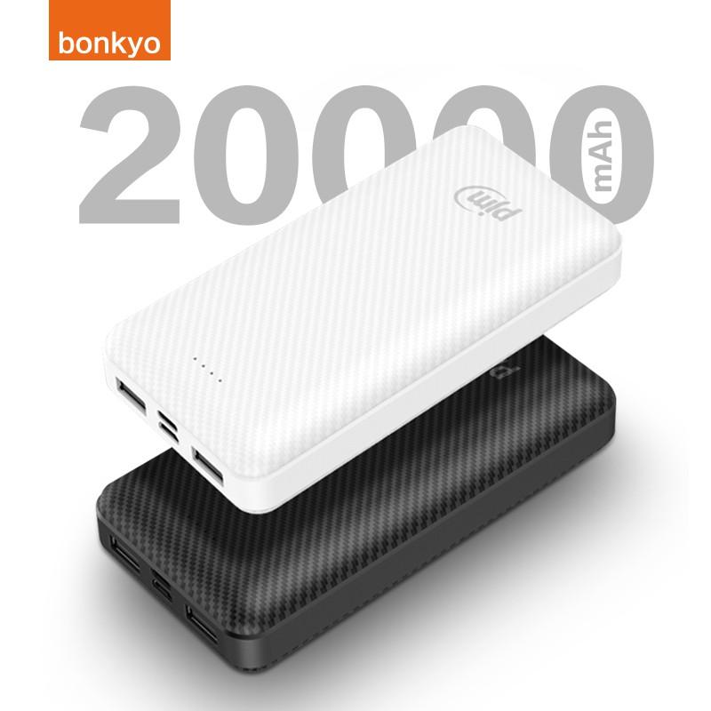 bonkyo Power Bank original 20000mAh Charger Portable Dual USB port