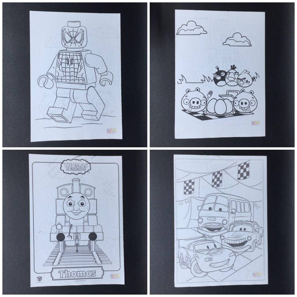 Kertas Mewarnai Gambar Karakter Kartun Aktivitas Coloring Book Anak