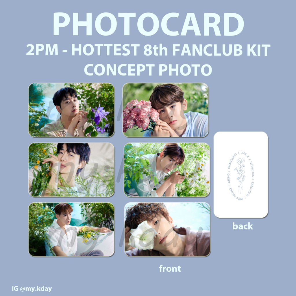 PC-0534, Photocard 2PM Hottest 8th Fanclub Kit Concept Photo 2 sisi
