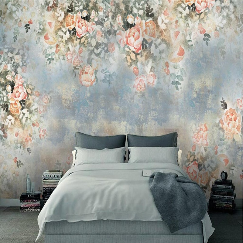 3d Foto Wallpaper Kamar Tidur Ruang Tamu Bunga 3d Mural Wallpaper Antik Stiker Dinding Dekoratif Shopee Indonesia