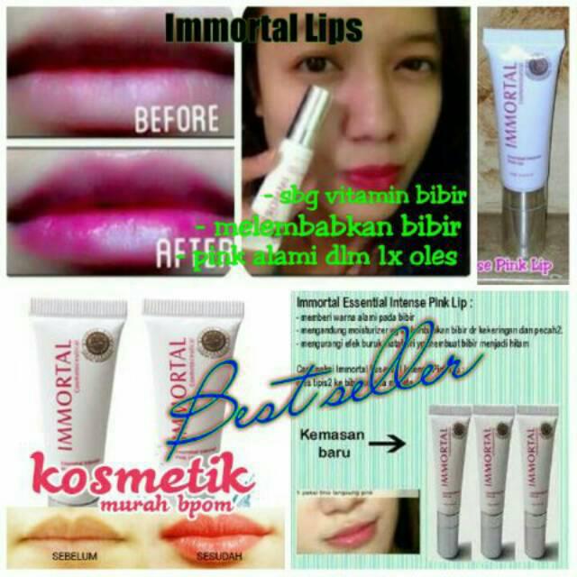 IMMORTAL ESSENTIAL ENTENSE LIP/ PEMERAH BIBIR ALAMI BPOM   Shopee Indonesia
