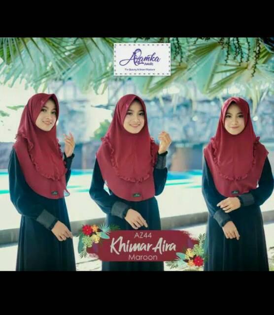 Khimar Aira Ori By Azamka Kerudung Hijab Instan Syar I Shopee Indonesia