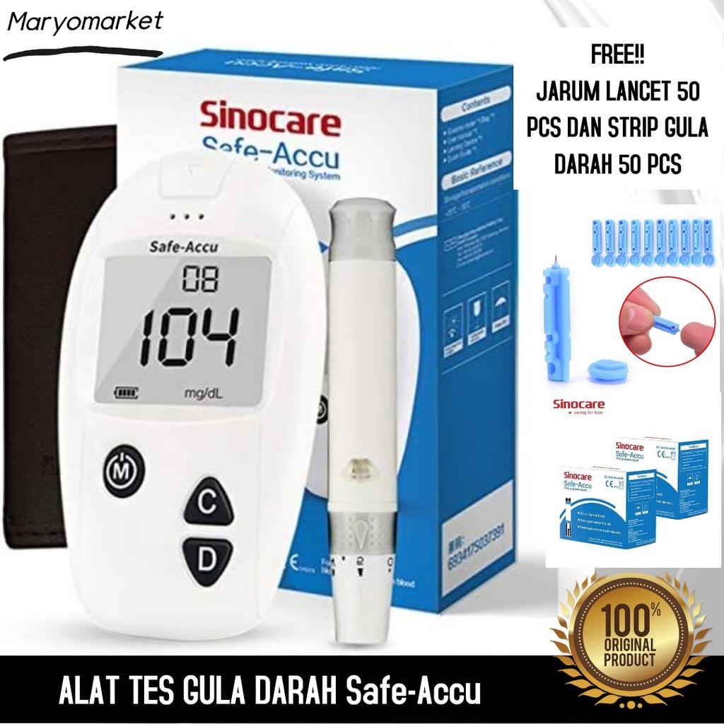 Sinocare Safe Accu Alat Cek Gula Darah Tes Glukosa Alat Tes Gula Darah