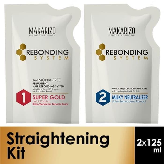 MAKARIZO Rebonding System Sachet 125ml x 2 Step 1   2 Pelurus Rambut ... e0dd035673