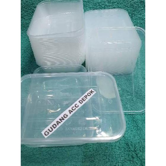 VH5✷ THINWALL DM500 ML FOOD CONTAINER BOX TEMPAT KOTAK MAKAN PLASTIK DM 500ML Koleksi Terbaru