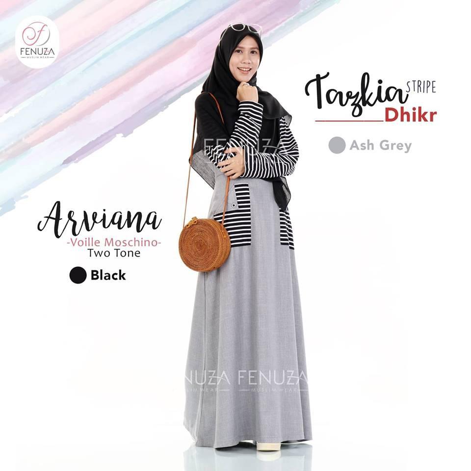 Fenuza - Gamis Tazkia Ash Grey S - Gamis Tazkia by Fenuza | Shopee Indonesia