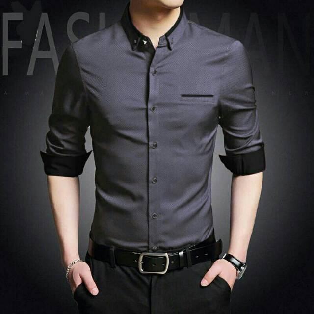Ed top man | kemeja pria | kemeja cowok | kemeja lengan panjang | Shopee Indonesia