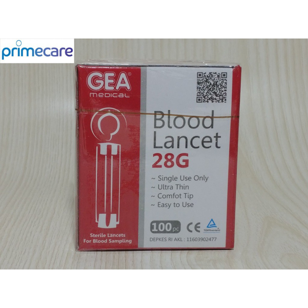 Blood Lancet Jarum Tusuk 28g Gea Isi 200 Shopee Indonesia Atau Renoma