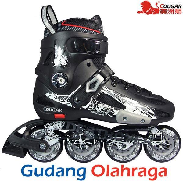 Sepatu Roda COUGAR DESTROYER MZS507 Slalom Inline Black  b547d2f1d9