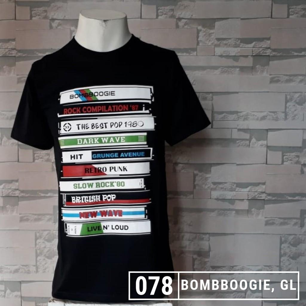 Kaos distro BOMBBOOGIE tshirt pria cotton combed 30s  218ac7fee2
