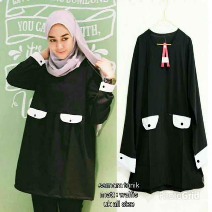 Kemeja Wanita Baju Atasan Alea Long Tunik Kaos Katun Rami Warna ... 368ba2f438