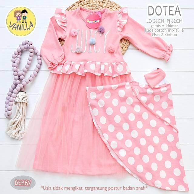 Dotea Dress Kids Khimar Shopee Indonesia