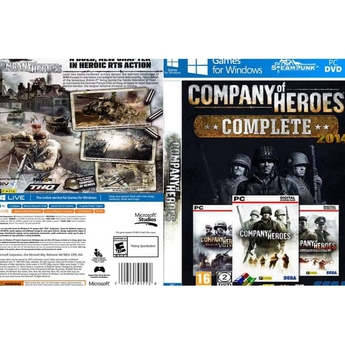 Gaming Series Company Of Heroes Complete Edition Pc Laptop Cd Game Gaming Gamer Shopee Indonesia