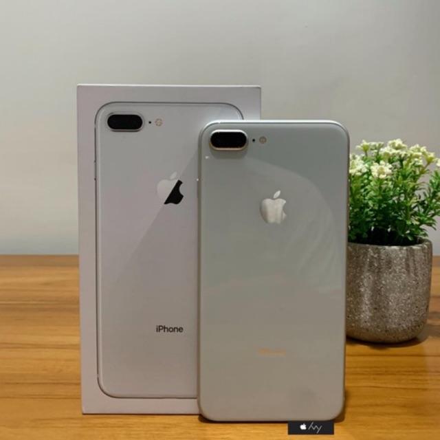 Iphone 8 Plus Silver 256gb Ex Garansi Apple Inter Singapur Mulus Fullset Original Shopee Indonesia