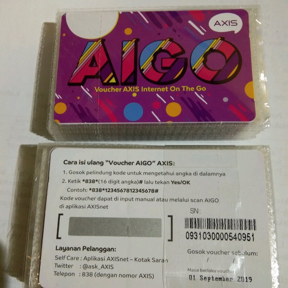 Voucher Aigo Axis Termurah 1 5gb 3gb 5gb 8gb Masa Aktif 1 Bulan Shopee Indonesia