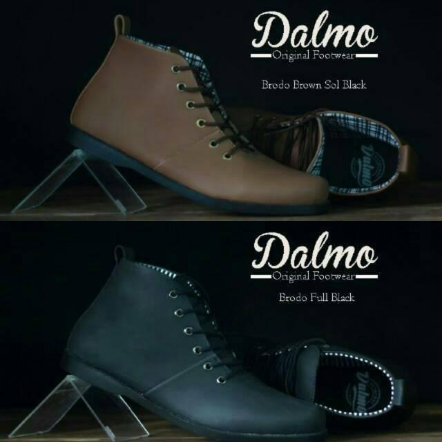 Sepatu Boots Pria DALMO ORIGINAL FOOTWEAR Ori Handmade Cowok Semi Pantofel  Casual Boot Sneakers  d35e876527
