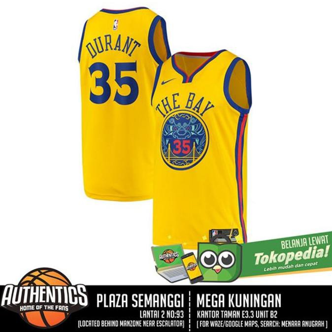 5cd9a4b71 Star Golden State Warriors Kevin Durant Nike Gold Swingman Jersey Terlaris