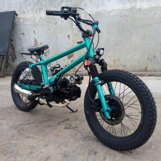 Frame Rangka Double Shock Belakang Motor Bmx Cub Shopee Indonesia