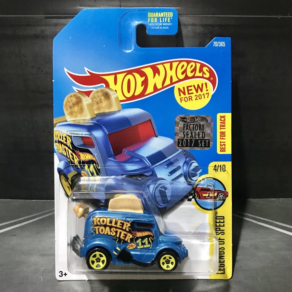 Hot Wheels Roller Toaster Factory Sealed 2017 Legends of Speed Blue