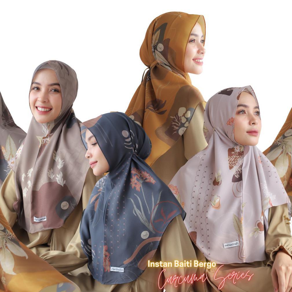 Hijabwanitacantik - Instan Baiti Curcuma | Hijab Instan | Jilbab Instan .