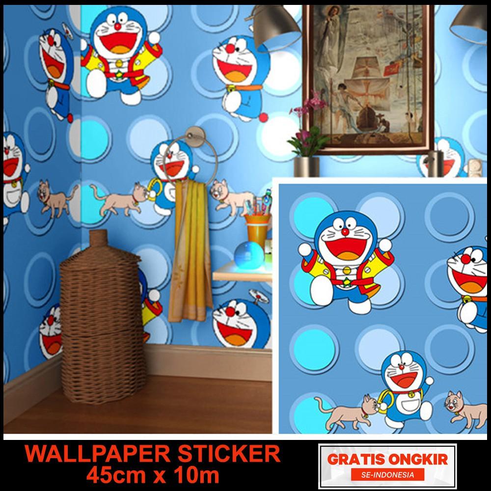 Wallpaper Stiker Dinding Motif doraemon bata Size 45cm x ...