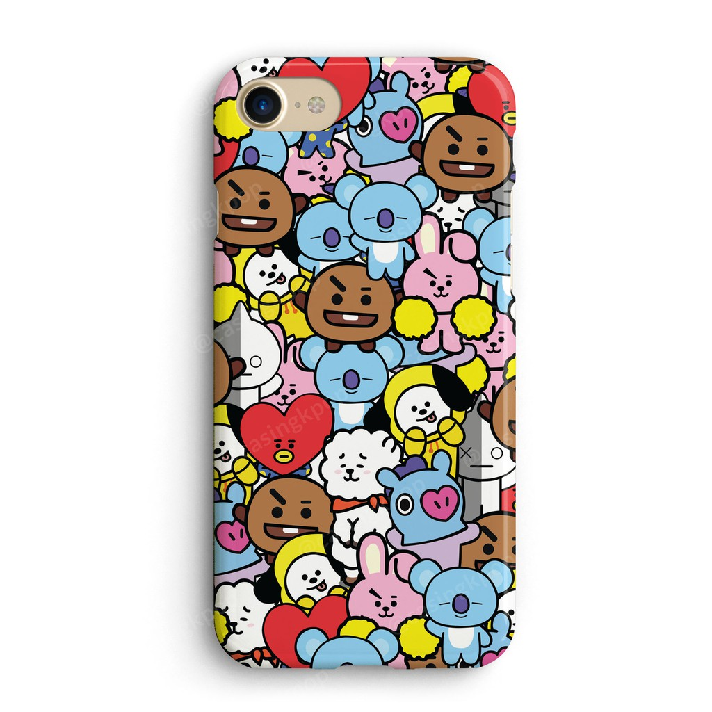 Casing Handphone Kpop Bts Bt21 All Wallpaper Shopee Indonesia