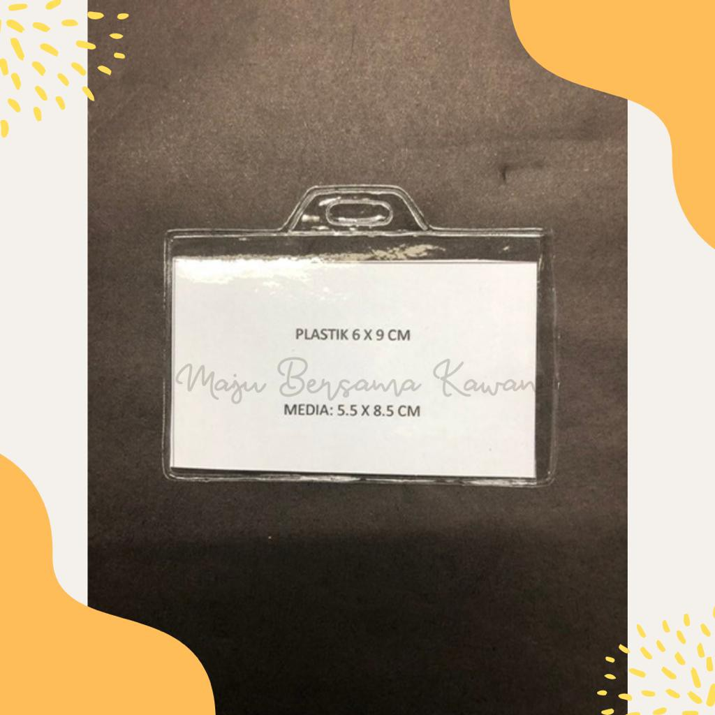 Plastik Cover ID Card / Plastik Kartu Panitia / Plastik Name Tag Ukuran 6x9 Landscape (1 Pack)