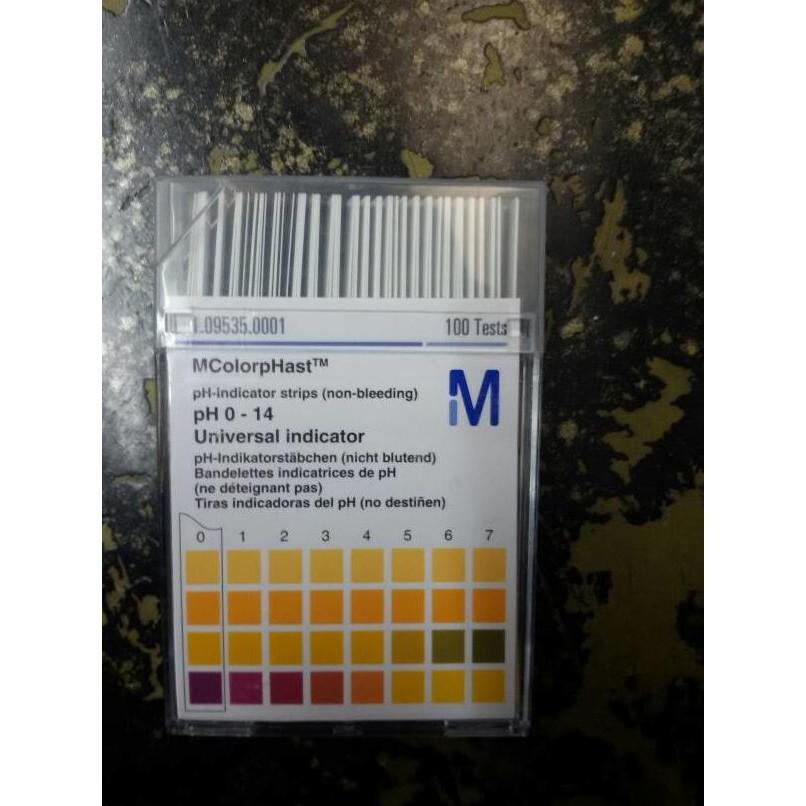 Kertas lakmus kertas pH 0-14 MN pH indikator .