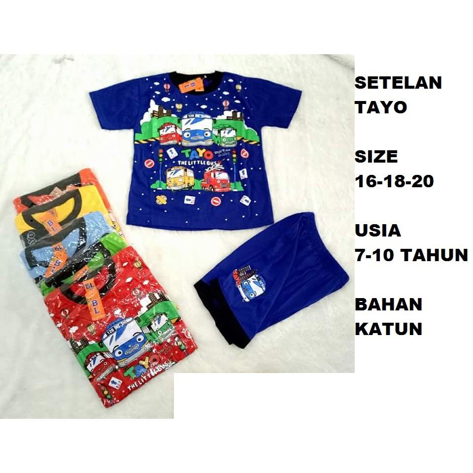 Baju Setelan Anak Tayo Murah Ty092117 Shopee Indonesia Stelan Kaos