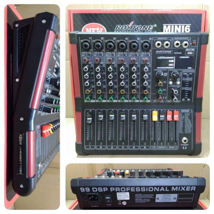 Mixer Audio | Audio Mixer Roxtone Mini 6 (6 Channel)