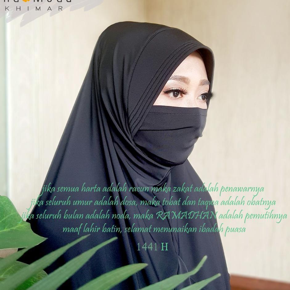 ♛Paling Laku✦,, Endomoda - Khimar Instant Niqob Masker EMKA 10 / Emka10  Premium (kerudung hijab coro