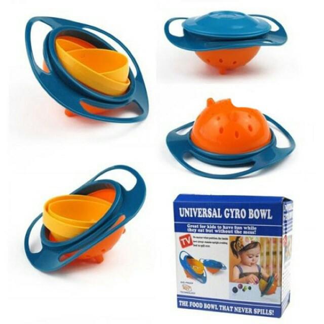 Gyro Bowl Mangkok Makan Anti Tumpah Anak ...