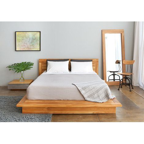 tempat tidur dipan ranjang minimalis modern kayu jati