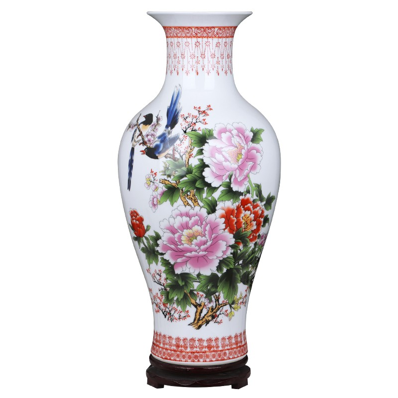 Jingdezhen Vas Bunga Keramik Bambu Mewah Ukuran Besar Untuk Dekorasi Shopee Indonesia