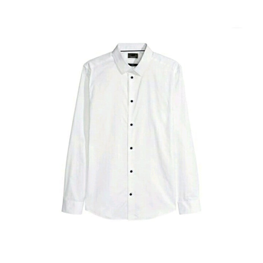 Hnm Men Formal Shirt Bigsize Kemeja H M Casual Putih Pria Jumbo Size Shopee Indonesia