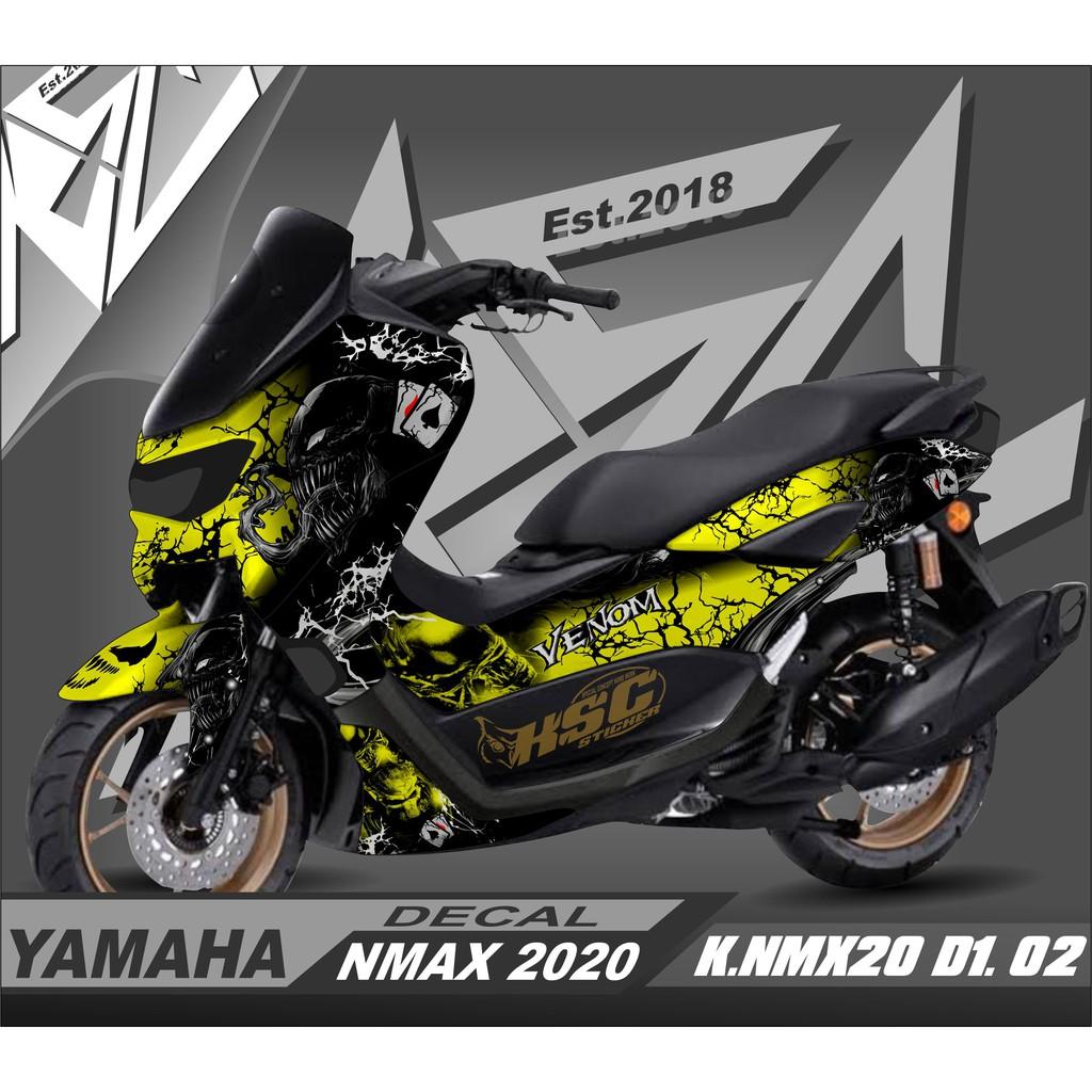 PROMO Decal Stiker FullBody Motor Yamaha Nmax New 2020 Dekal Nmax 2021 VENOM Predator  K.NMX20.D1.02