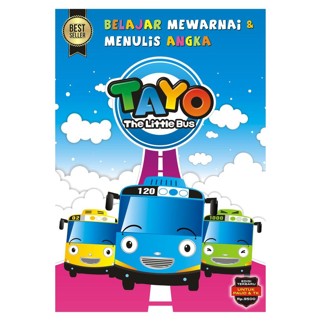 Buku Mewarnai Coloring Book Tayo