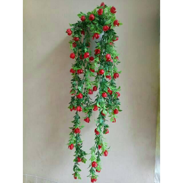 Artificial bunga tulip +pot mahkota  d91fa8e68f