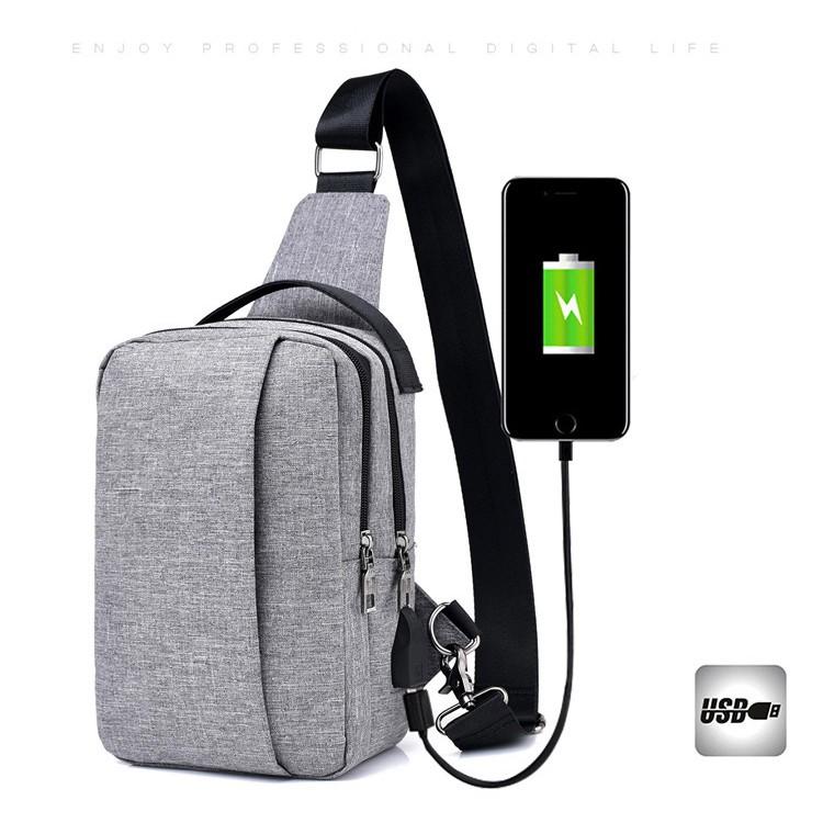 Tas Selempang Anti Maling With USB Charger  96937b0ba2a
