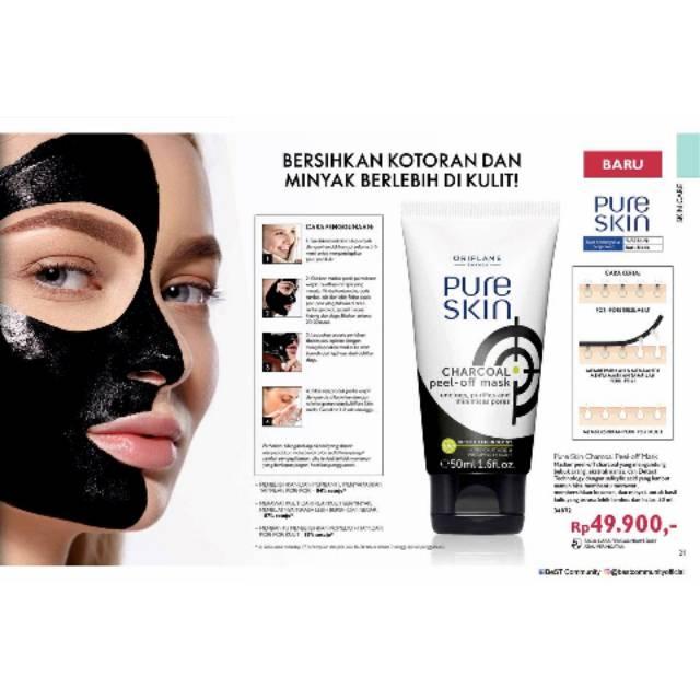 Pure Skin Charcoal Peel Of Mask Oriflame By Waroengayu Shopee Indonesia